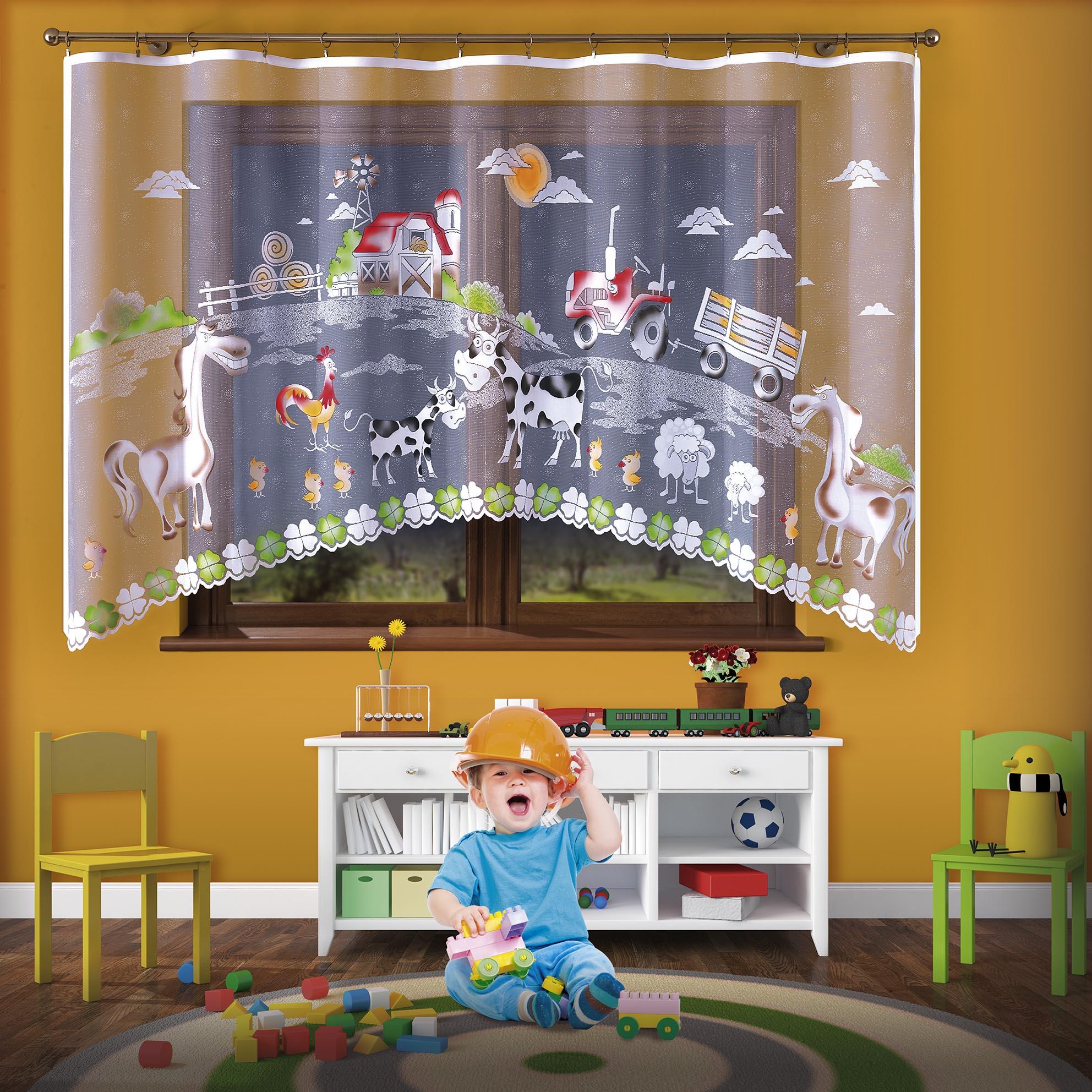 Firanka Dla Dzieci Malowana Do Pokoju Dziecięcego Szer 300 Cm Wys 160 Cm N1006